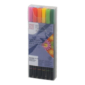 呉竹 ZIG アート & グラフィック ツイン セット 12V、ベーシック 12色セット