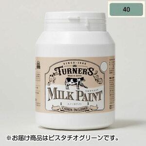 全商品2〜10倍ポイント27日23時59分まで/ターナー ミルクペイント 450ml ボトル入り ピスタチオグリーン 色番40(ピスタチオグリーン)