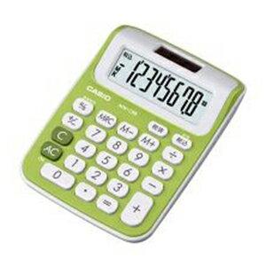 カシオ カラフル電卓 8桁 ミニジャストタイプ(シトラスグリーン)