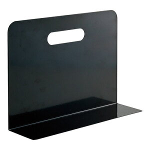 リヒトラブ ブックエンド・ワイドタイプ(マグネット付) A−7352−24(黒)
