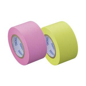 ヤマト メモックロールテープ 強粘着 詰替え用テープ(蛍光紙)(ローズ・レモン)