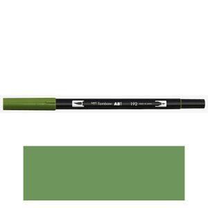 トンボ鉛筆 デュアルブラッシュペン AB−T 192 ABT 水彩 スケッチ 画材 カリグラフィ イラスト ツインタイプ(アスパラガス )