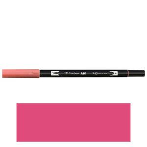 トンボ鉛筆 デュアルブラッシュペン AB−T 743 ABT 水彩 スケッチ 画材 カリグラフィ イラスト ツインタイプ(ホットピンク)