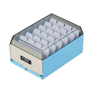 全商品ポイント2〜10倍9日0時より/ カール カードファイルケース 名刺収容400枚 CFC−400−T(ライトブルー)