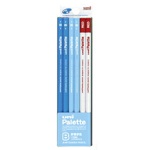 三菱鉛筆 ユニパレット ダース箱 B(パステルブルー+赤鉛)