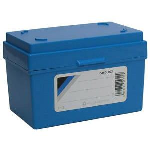 全商品ポイント5倍23日20時より/コレクト カードボックス 青 5×3 蓋付