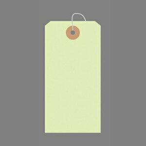 ササガワ カラー荷札 一穴 1000枚パック 大(黄緑)