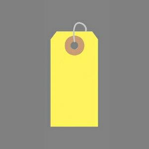 ササガワ カラー荷札 一穴 2000枚パック 豆(黄)