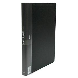 コレクト 名刺整理帳 A4−L 30穴 ブラック