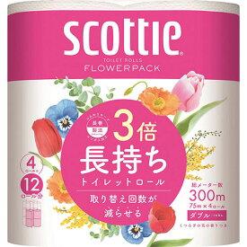 全商品ポイント3倍16日23時59分まで/日本製紙クレシア スコッティフラワーパック 3倍長持ち