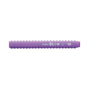 シヤチハタ アートライン BLOX ブロックス 水性サインペン 蛍光(パープル)