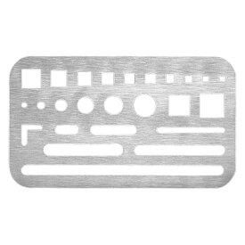ウチダ ステンレス字消版・B製図 デッサン 消しゴムかけ 部分 ステンレス製 60X102mm