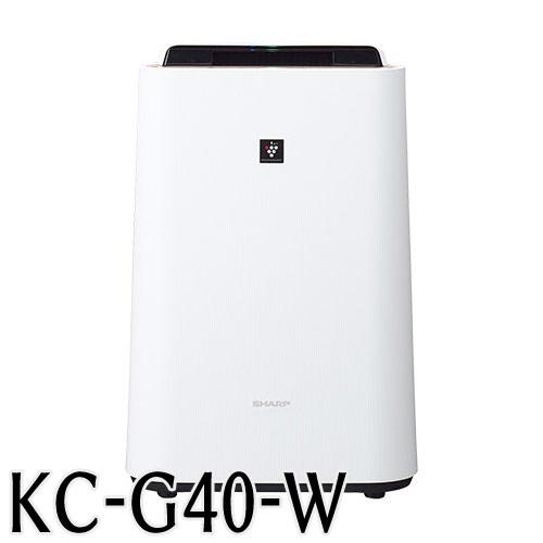 代引不可 シャープ 加湿空気清浄機 KC−G40W 高濃度「プラズマクラスター7000」技術搭載(ホワイト)