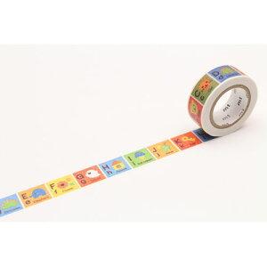 全商品ポイント3倍26日23時59分まで/ カモ井加工紙 mt for kids キッズアルファベットA−M マスキングテープ