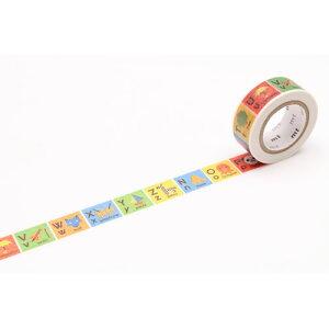 全商品ポイント3倍26日23時59分まで/ カモ井加工紙 mt for kids キッズアルファベットN−Z マスキングテープ