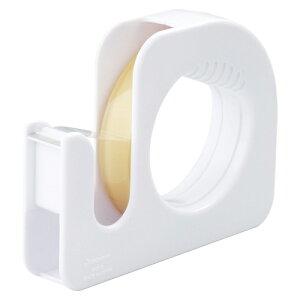 ニチバン セロテープ[R]ハンドカッター 直線美[R] (大巻ハンドカッター付)巻芯径76mm(白)
