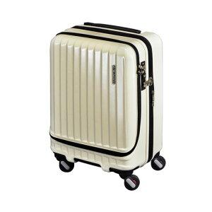代引不可 エンドー フリークエンター キャリーケース スーツケース エンボス加工 1−282 Eアイボリー 4輪キャリーEX(Eアイボリー)