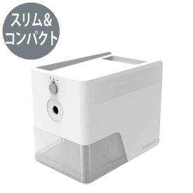 ナカバヤシ 電動鉛筆削り スリムトレータイプ えんぴつけずり 小型 コンパクト DPS−601W(ホワイト)