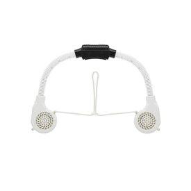 全商品ポイント3倍20日17時より/キングジム 首掛け扇風機 ネックファン 携帯扇風機 ネック冷却ファン NRF10(ホワイト)