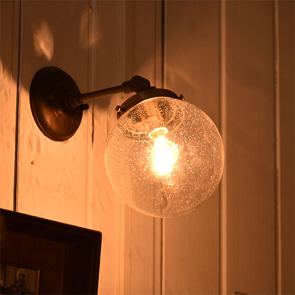 「たまゆらの時 うたかたの影」ウォールライト Labulle FC-WSA321 アンティーク ガラス ウォールライト ブラケット ヨーロッパ 南欧 ヴィンテージ 真鍮 クラシック おしゃれ