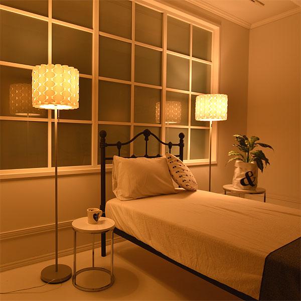 スタンドライト フロアライト DN-947 FLOORLAMP フロアスタンドライト 北欧 照明 おしゃれ リビング用 居間用 寝室 ランプ ベッドサイド 一人暮らし 1灯 グレー モノトーン 間接照明