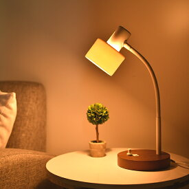 デスクライト DOTS-NEXT MONER PSB446 デスクランプ 調光 無段階調光 照明 おしゃれ 間接照明 フレキシブルアーム 北欧 モダン ナチュラル ウッド 白 ホワイト シャビーシック 南欧 寝室 ランプ ベッドサイド