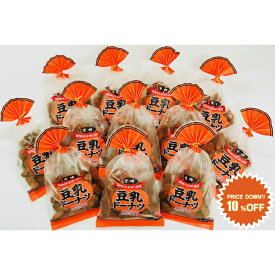 山田製菓/どーなつファーム/巾着豆乳ドーナツ(黒糖)/160g×12袋