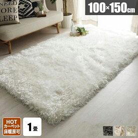 ラグ 1畳 シャギー 北欧 ラグマット 冬用 おしゃれ シャギーラグ 毛足が長い 冬用 100×150 フロア リビング 絨毯 ラグカーペット 冬用ラグ 長方形 小さめ