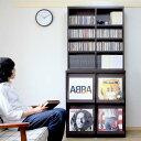 レコードラック 本棚 ディスプレイラック 扉付き レコード cd コミック 収納 ラック 棚 キャビネット 大容量 リビング…