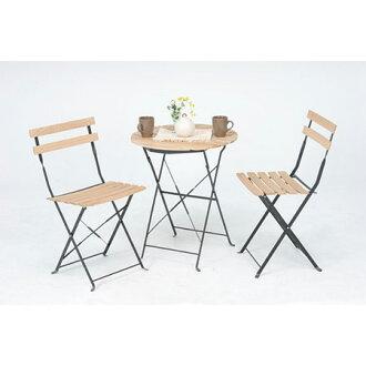 garden 3 point set table chairs wood leisure picnic garden furniture shiraki cafe garden terrace simple chair - Garden Furniture Chairs