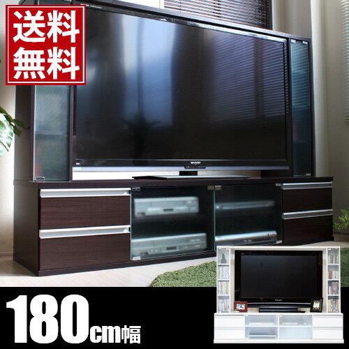 180cm TV台 TVボード テレビ台 テレビボード ハイタイプ 大型TV対応 60インチ 壁面収納 2月