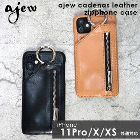 《即納》【11Pro/X/XS対応】エジュー ajew 通販 ajew cadenas leather zipphone case アイフォンケース iphoneケース カバー iphone11Pro ケース イレブンプロ iphoneX iphoneXS ケース スマホケース 小銭入れ ICカード レザー 革 ac201900211p