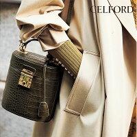 セルフォードCELFORD通販8月上旬予約バケットショルダーバッグレディースバッグ鞄かばんショルダーバッグバケット型押し2WAYメタルデイリーオケージョンフォーマルパーティーcwgb194502