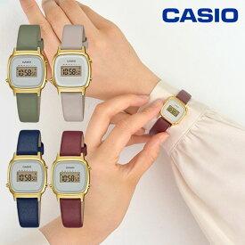 CASIO カシオ LADY'S DIGITAL LA670WFL レディース 限定 腕時計 ウォッチ ブランド 革ベルト オフィス 会社 カジュアル レトロ 小さめ 小ぶり ストップウォッチ タイマー 時刻アラーム 防水 プレゼント アースカラー くすみカラー la670wfl