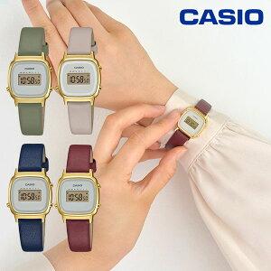 《ポイント10倍》CASIO カシオ LADY'S DIGITAL LA670WFL レディース 限定 腕時計 ウォッチ ブランド 革ベルト オフィス 会社 カジュアル レトロ 小さめ 小ぶり ストップウォッチ タイマー 時刻アラーム 防水 プレゼント アースカラー くすみカラー la670wfl