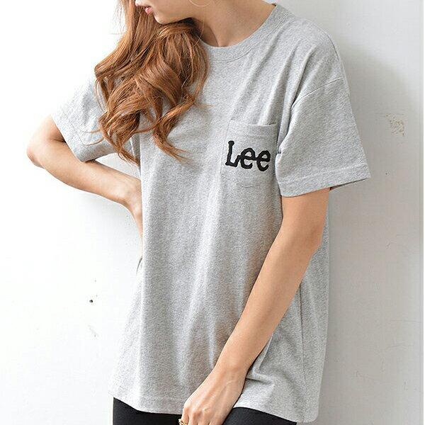 【ポイント10倍】Lee リー 通販 CREWNECK POCKET LOGO Tee tシャツ レディース トップス 半袖 クルーネック カットソー ロゴ ポケット シンプル カジュアル ls1242