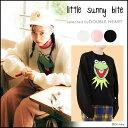 little sunny bite リトルサニーバイト little sunny bite × muppets kermit c big knit レディース トップス ニット…