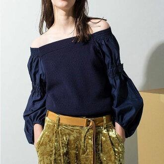 エレンディーク ELENDEEK end of September reservation JOINT KT PO joint knit pullover Lady's tops knit off shoulder pullover blouse 511752630101