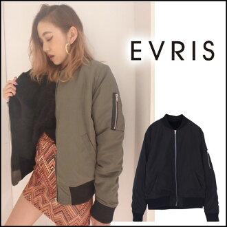 EVRIS Evers 可逆马-1 (10 月下旬保留) EVRIS 存储夹克女士束腰女夹克皮毛夹克外套博客
