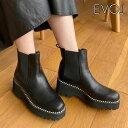 《即納》イーボル EVOL 20秋冬 PURPOSE サイドゴアブーツ レディース シューズ ブーツ 靴 ショートブーツ 厚底ソール …