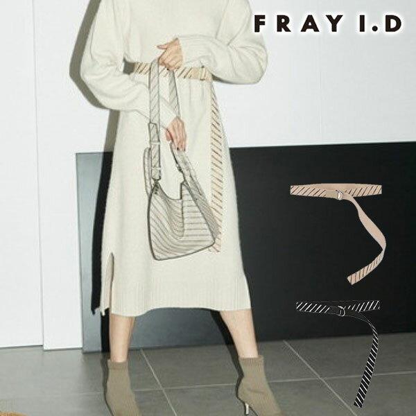 【SALE50%OFF】フレイ アイディー FRAY I.D 通販 テープベルト レディース ベルト テープベルト ロゴ モノグラム ロゴテープ ウエストマーク バックル 小物 FRAY ID fwgg185338 母の日