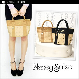 Recommended for honey Salon [honey salon] bag final disposition Super gift ♪ classical dotinitialtort   ladies/bag/cotton bag and lunch bags   (FHB-0600)