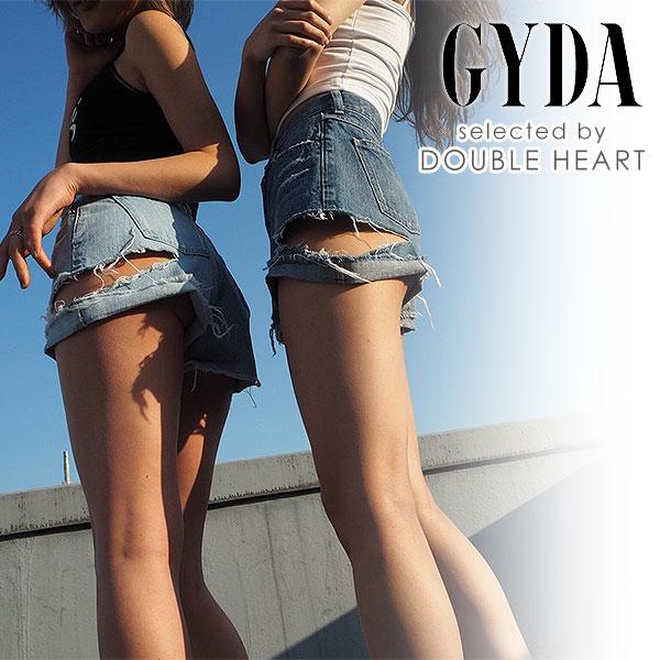 【クーポン対象】ジェイダ GYDA SIDE RIPPEDデニムショーパン ショートパンツ デニム レディース ボトムス パンツ ショーパン デニムパンツ ダメージ 071822402201 フェス