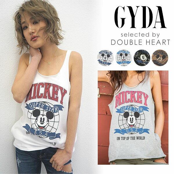 ジェイダ GYDA Mickeyカレッジスウェットタンクトップ タンクトップ レディース トップス ノースリーブ スウェット ミッキーマウス ミッキー mickey ディズニー disney 071822713401