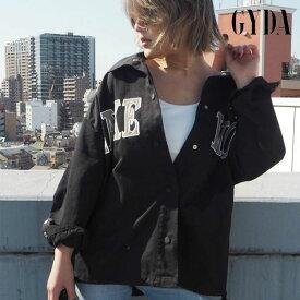 【SALE30%OFF】ジェイダ GYDA 通販 LAKE WOOD オーバージャケット レディース アウター ジャケット オーバーサイズ コーチジャケット ビッグシルエット LAライク 春アウター メンズライク 刺繍 羽織り 071920147001