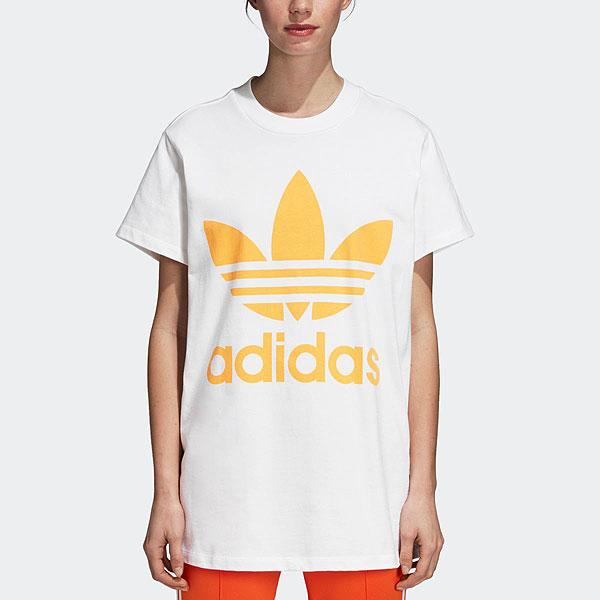 【ポイント10倍】アディダスオリジナルス adidas originals 通販 HERI BIG TREFOIL TEE tシャツ レディース トップス 半袖 カジュアル クルーネック スポーツ ビッグシルエット アディダス ロゴ ストリート アディカラー 定番 elw28