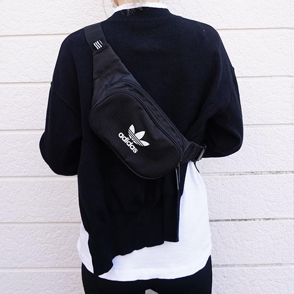アディダスオリジナルス adidas originals 通販 ESSENTIAL CROSS BODY レディース メンズ ユニセックス バッグ 鞄 ウエストポーチ ボディバッグ トレフォイル ロゴ アディカラー スポーツ スポーティー fua28 セール除外品 バレンタイン