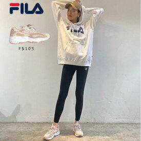 《クーポン対象》フィラ FILA 通販 FILA RAY TRACER WOMENS ウィメンズ レディース シューズ 靴 スニーカー ピンク ダッドシューズ DAD SHOES ローカット 厚底 ロゴ カジュアル ストリート 0650 f5105