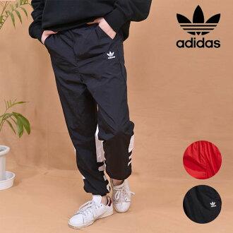 Adidas originals adidas originals big logo trackpants bottoms underwear full-length waist rubber jersey wide unhurried BIGLOGO TRACK PANTS three stripe sports Pau tea logo Adidas gvu19