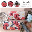 rienda リエンダ Dual Flower Print Flap Long Wallet デュアルフラワープリントフラップロングウォレット レディース…